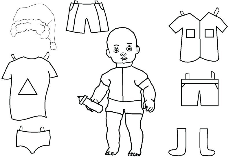 Baby Paper Doll Template