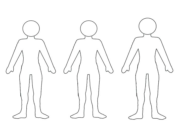 Blank Paper Doll Template Chain