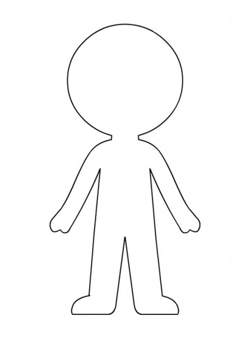 picture relating to Printable Paper Doll Template identified as Paper Doll Template - Most straightforward Coloring Internet pages For Small children