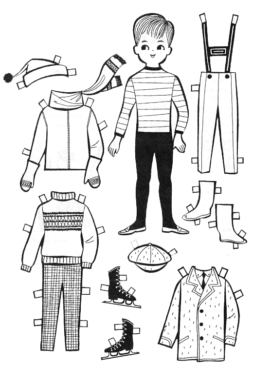 Boy Paper Doll Template