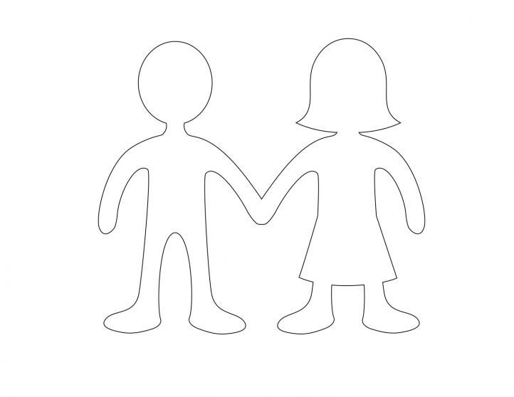 picture relating to Printable Paper Doll Templates named Paper Doll Template - Least complicated Coloring Webpages For Children