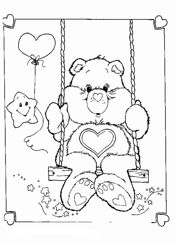 Carebears February Coloring Pages
