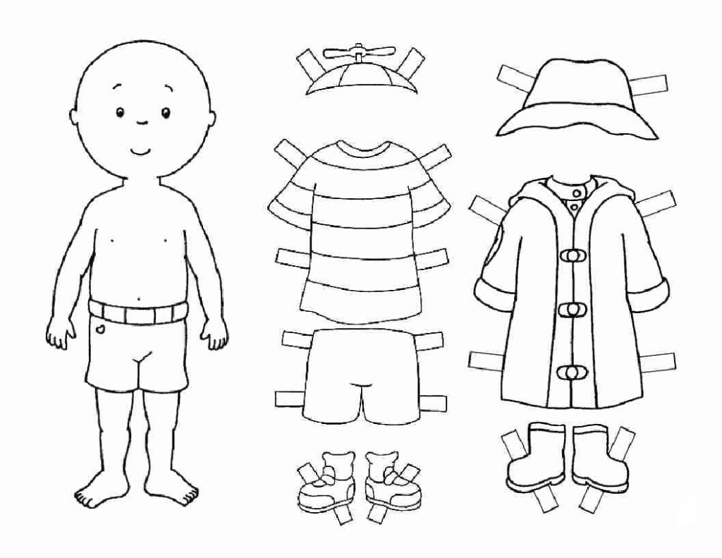 Child Paper Doll Template Boy