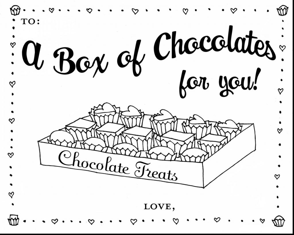 Chocolates - February Coloring Pages