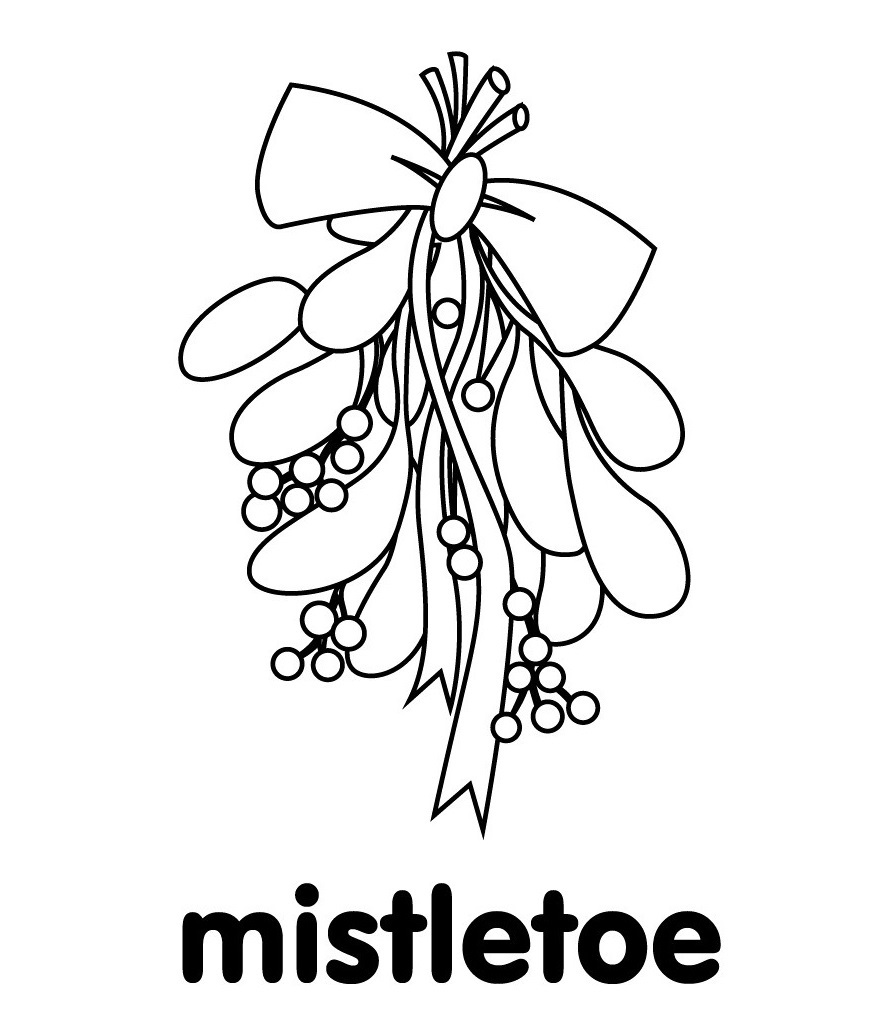 Christmas Mistletoe Coloring Pages