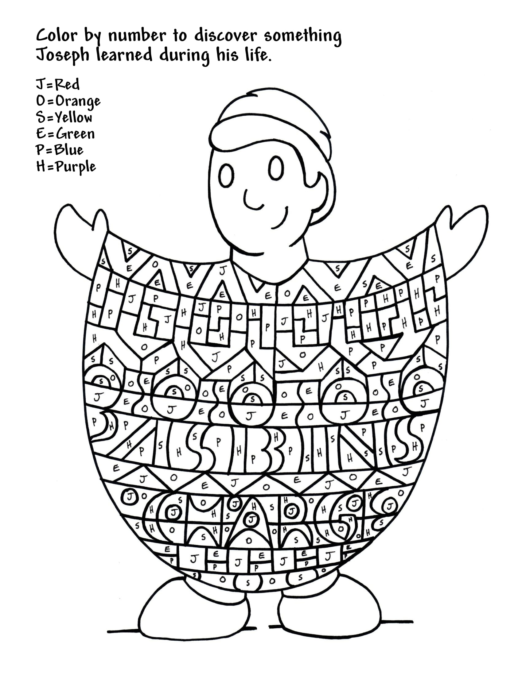 Color By Letters Coloring Pages
