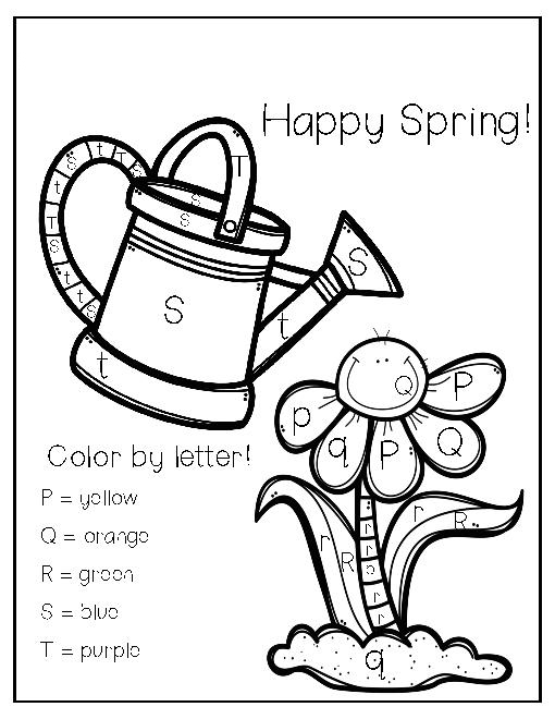Color by Letter Preschool