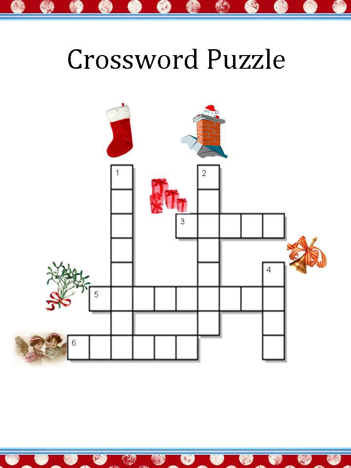 photograph relating to Holiday Crossword Puzzles Printable named Xmas Crossword Puzzles - Least complicated Coloring Web pages For Children