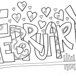 February Coloring Pages