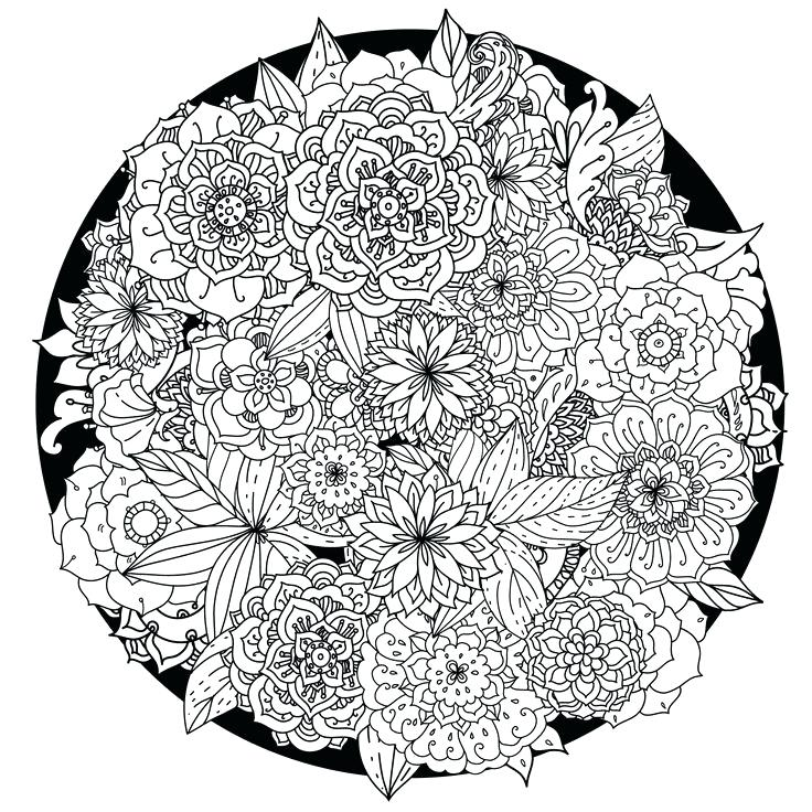 Flowers Advanced Coloring Pages for Adults