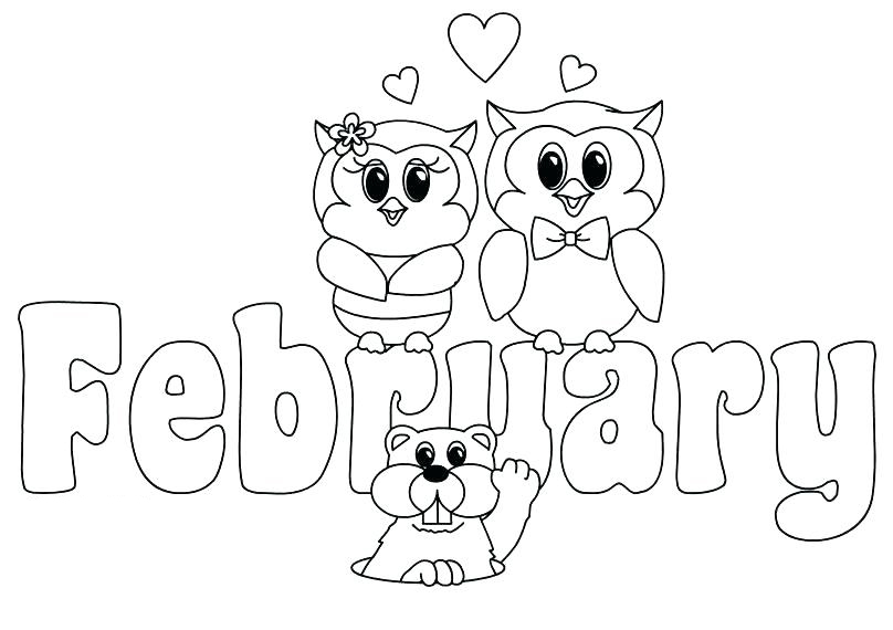 February Coloring Pages Best Coloring Pages For Kids