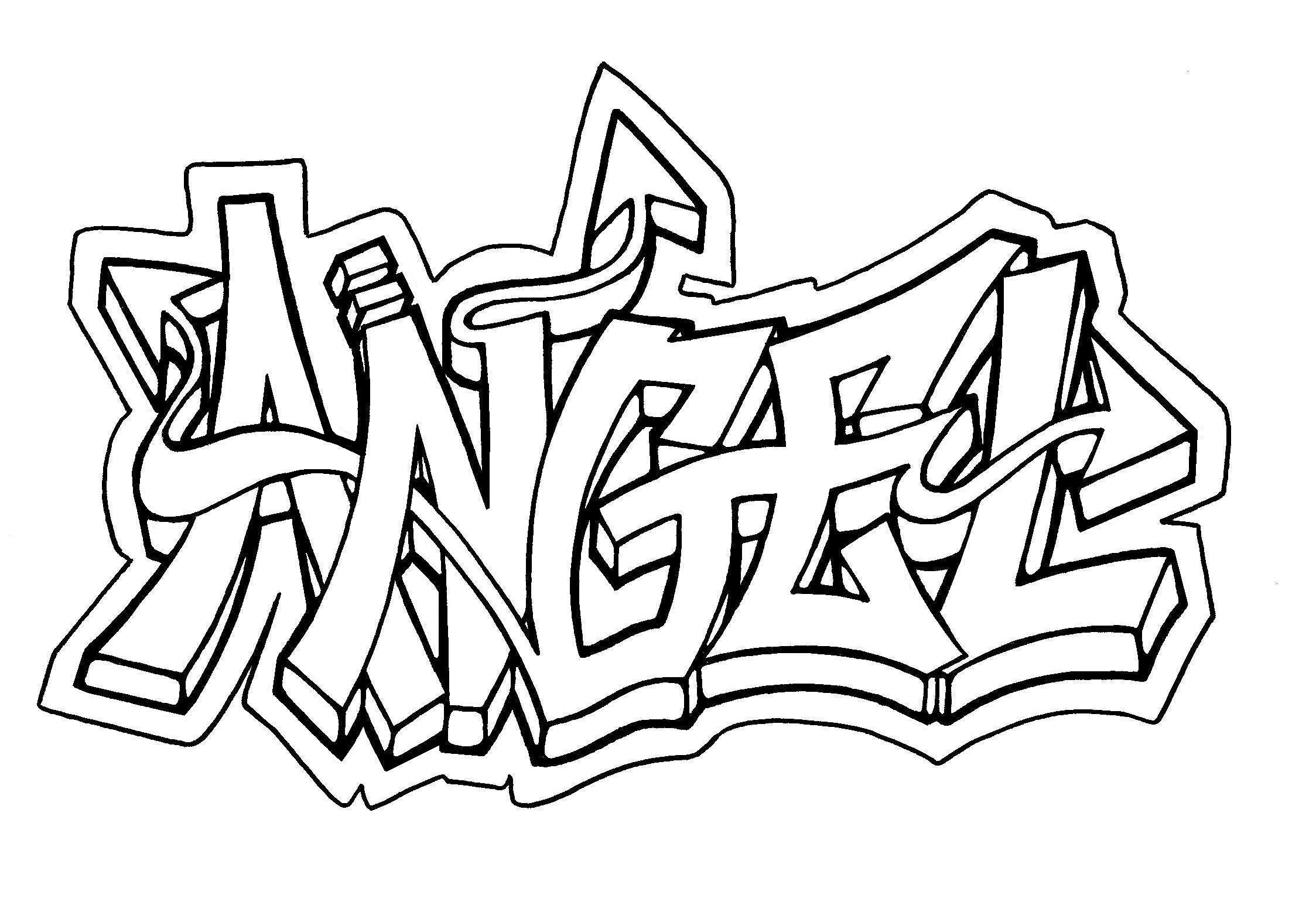 Graffiti Coloring Pages For Teens And Adults Best