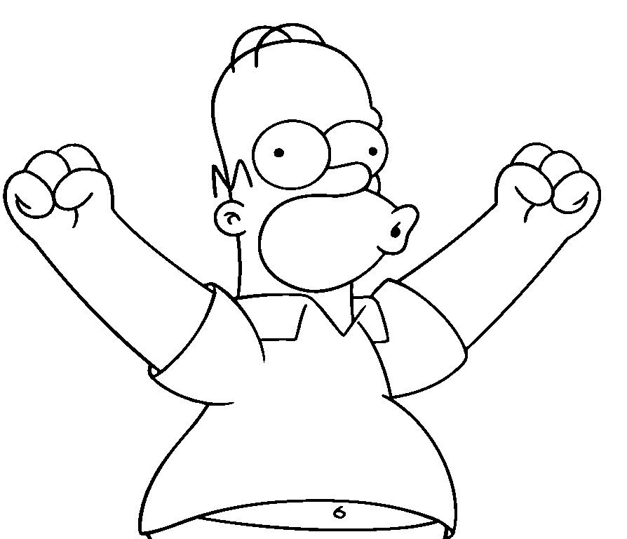 Funny Coloring Pages Homer