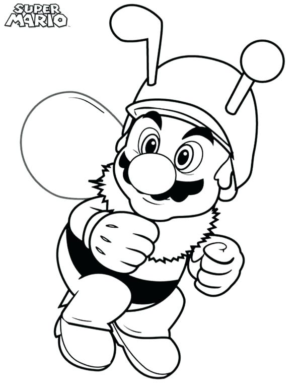 Funny Coloring Pages Mario