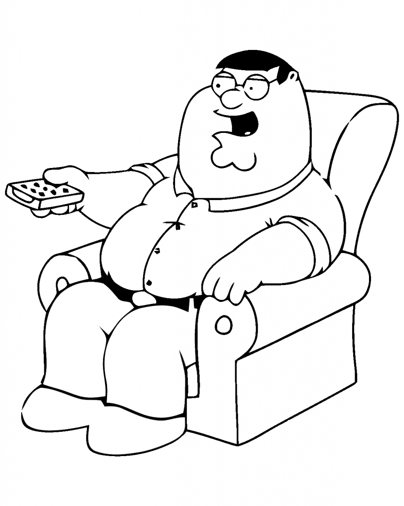 Funny Coloring Pages Peter Griffin