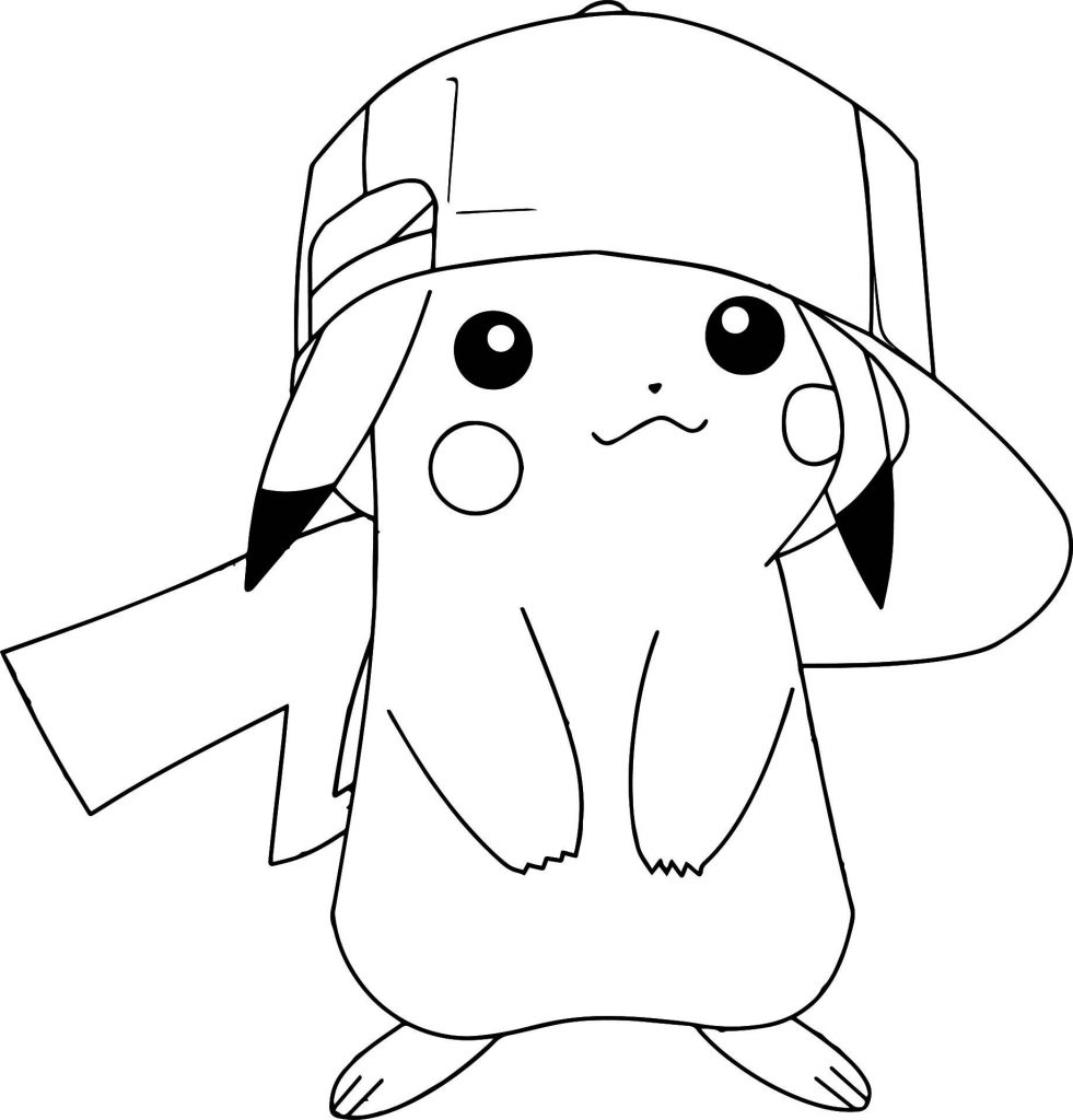 Funny Coloring Pages Pikachu