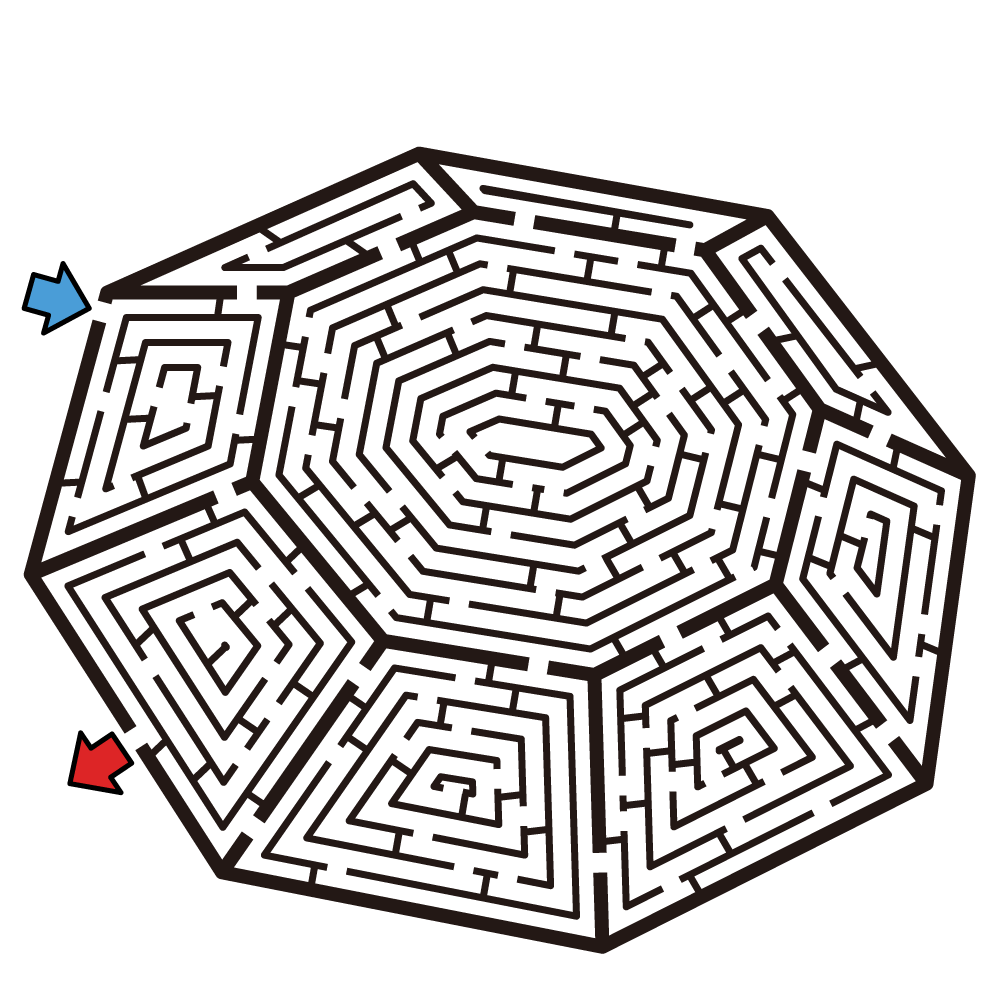 Geometric Maze Puzzle Medium Hard