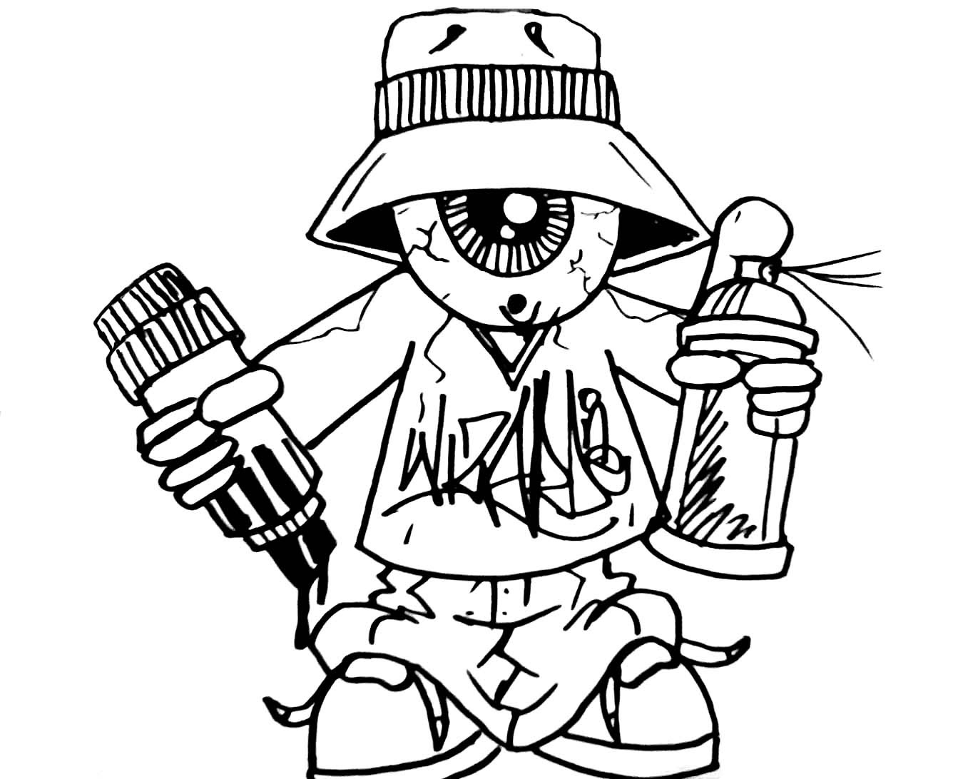 Graffiti Coloring Pages For Teens And Adults