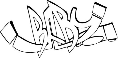 Graffiti Coloring Pages Printable