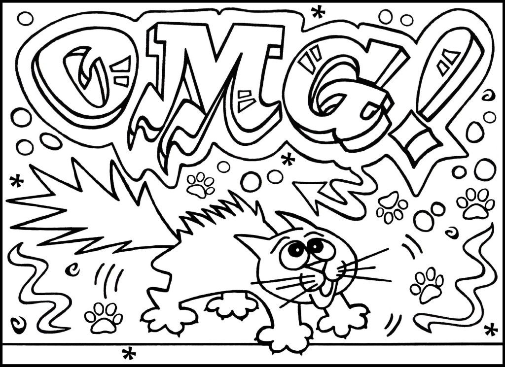 Graffiti Coloring Pages for Teens