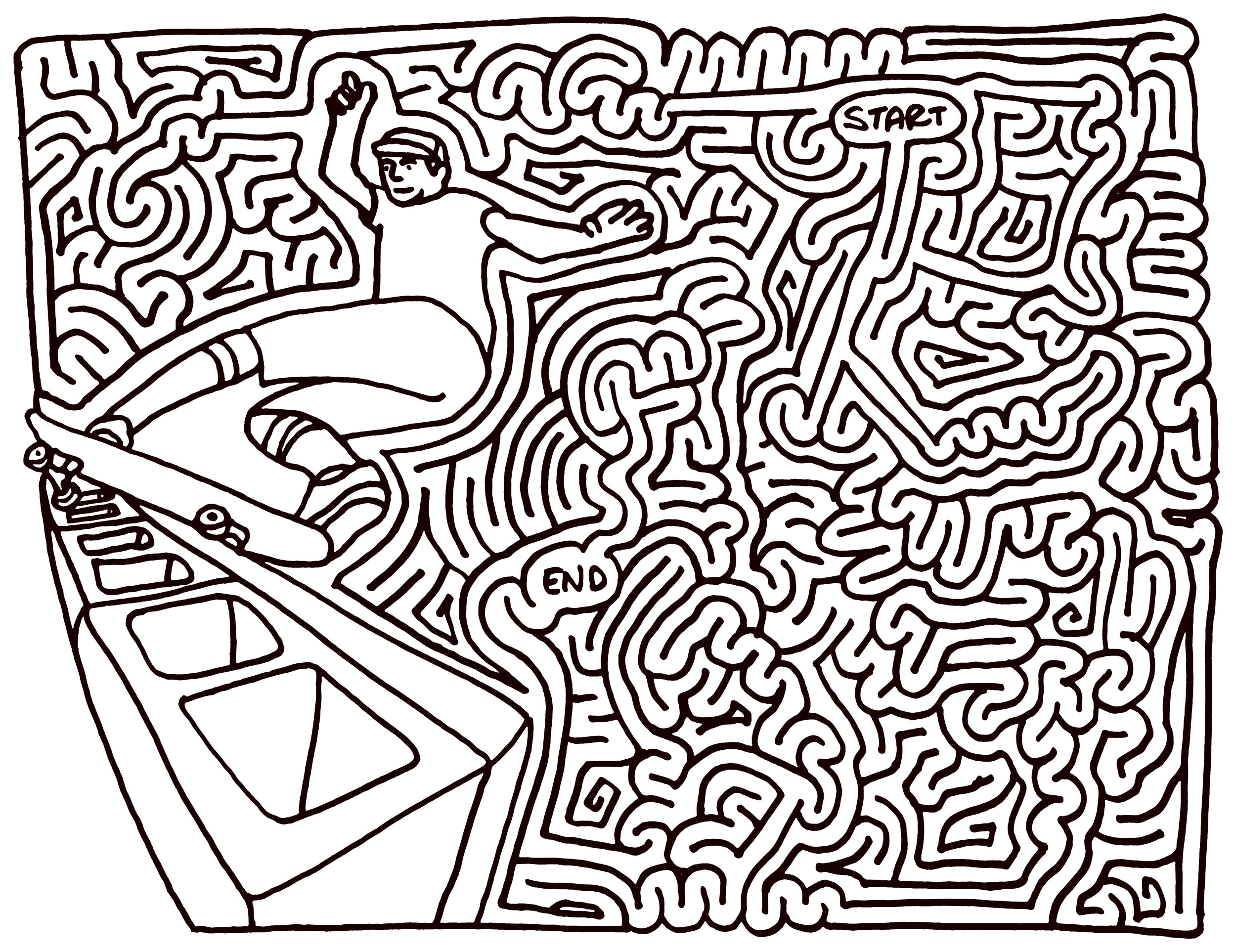 image regarding Difficult Mazes Printable named Demanding Mazes - Simplest Coloring Web pages For Children