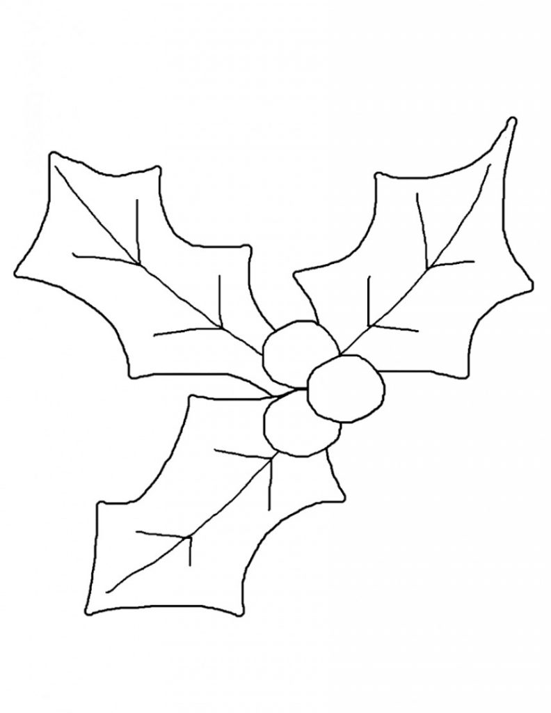 Holly Coloring Pages Printable