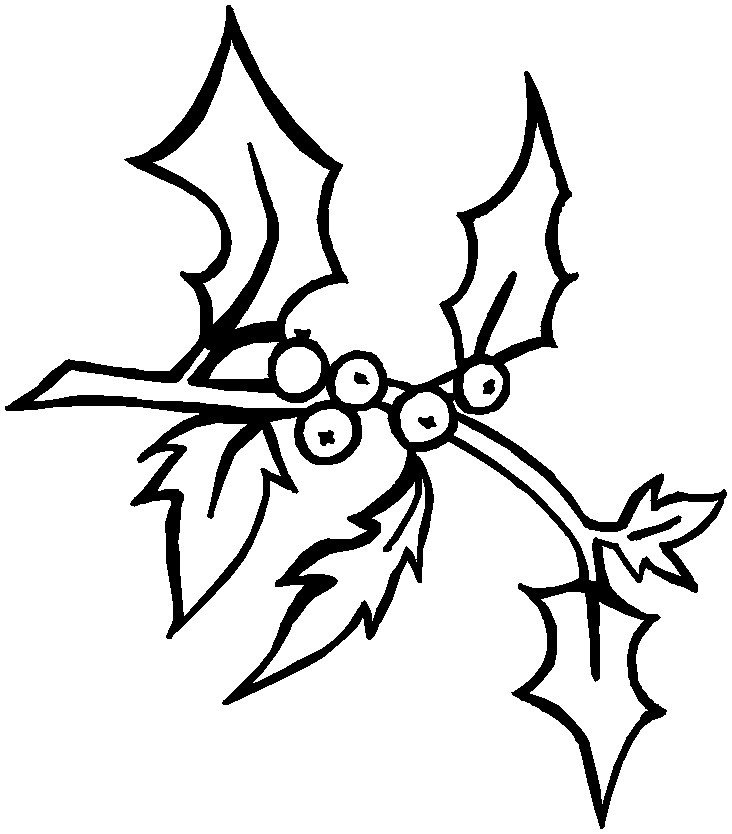 Holly Coloring Pages to Print