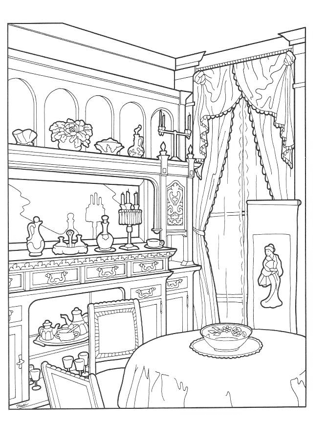Home Scenery Coloring Pages for Adults