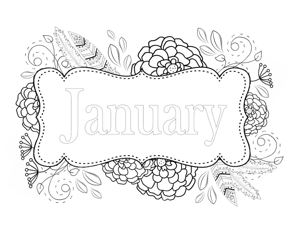 January Coloring Pages Best Coloring