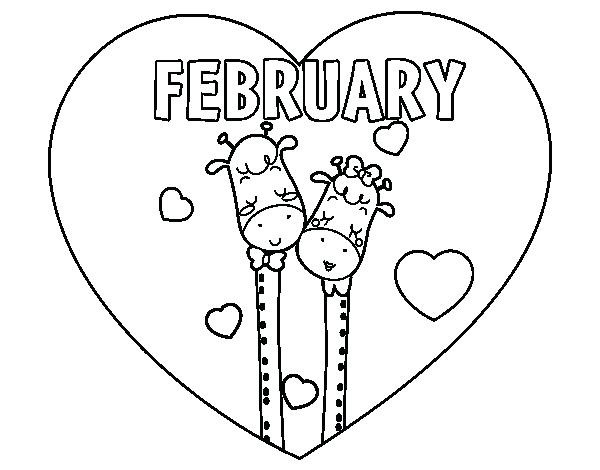 Love is in February Coloring Pages