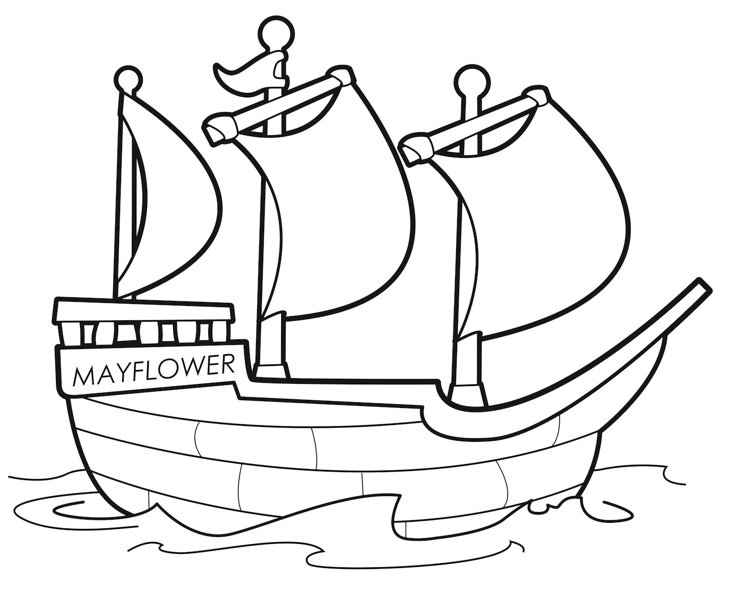 It's just a photo of Effortless mayflower coloring page