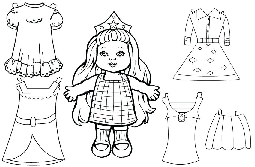Princess Paper Doll Dressup Printable
