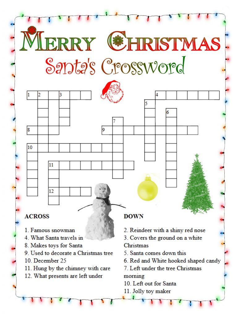 Print Christmas Crosswords