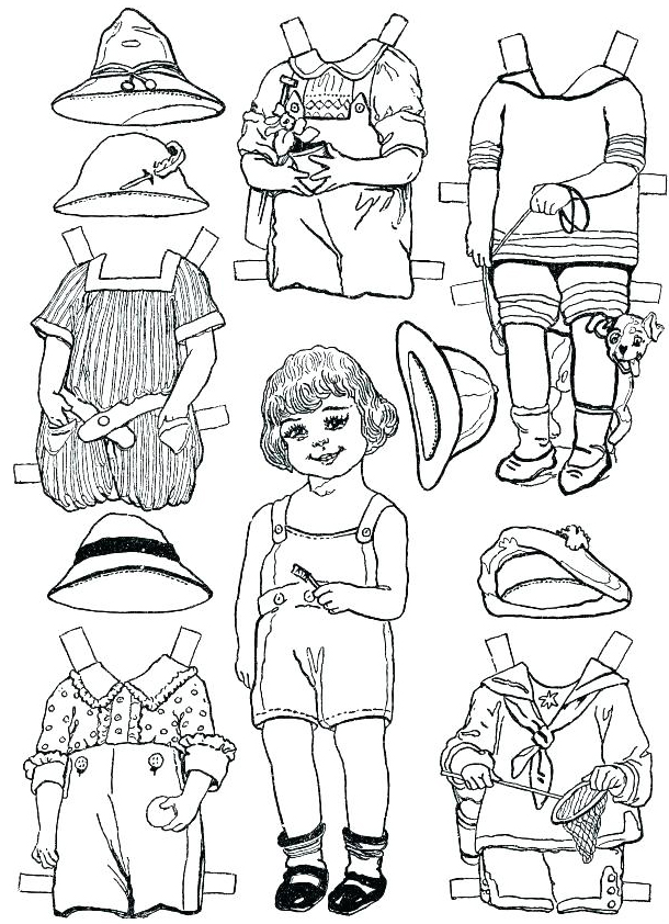 photograph regarding Paper Dolls to Printable identified as Paper Doll Template - Ideal Coloring Web pages For Little ones