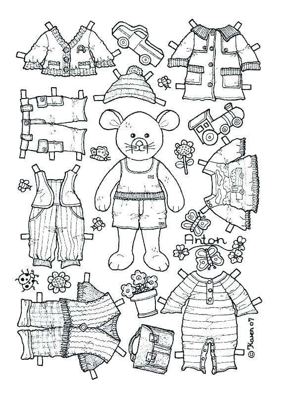 Paper Doll Template Best Coloring Pages For Kids