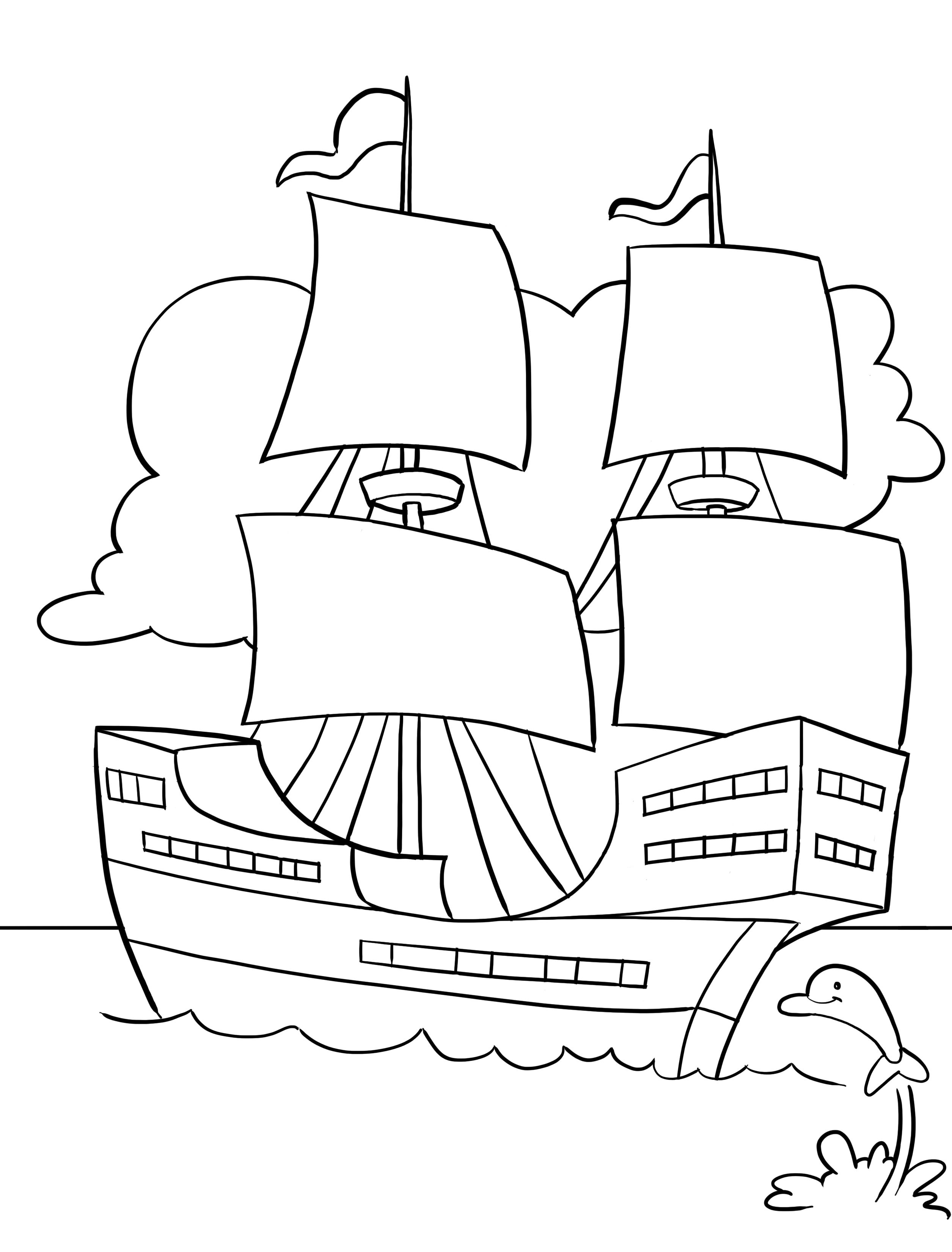 Mayflower Coloring Pages Best Coloring Pages For Kids