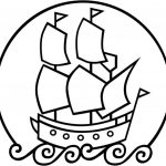 Simple Mayflower Coloring Page