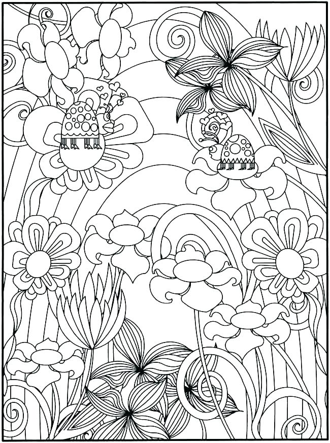 Spring Scenery Coloring Pages for Adults