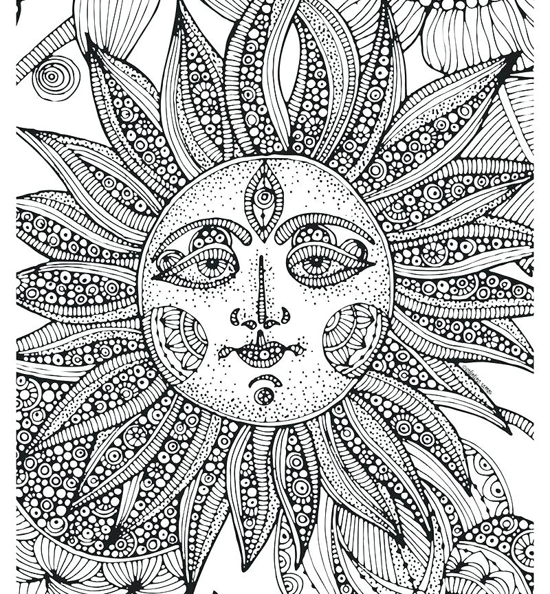 Sun Coloring Pages for Adults
