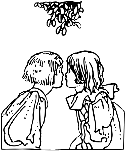 Sweet Mistletoe Coloring Pages