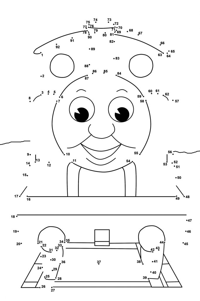 Thomas Dot to Dot Printables