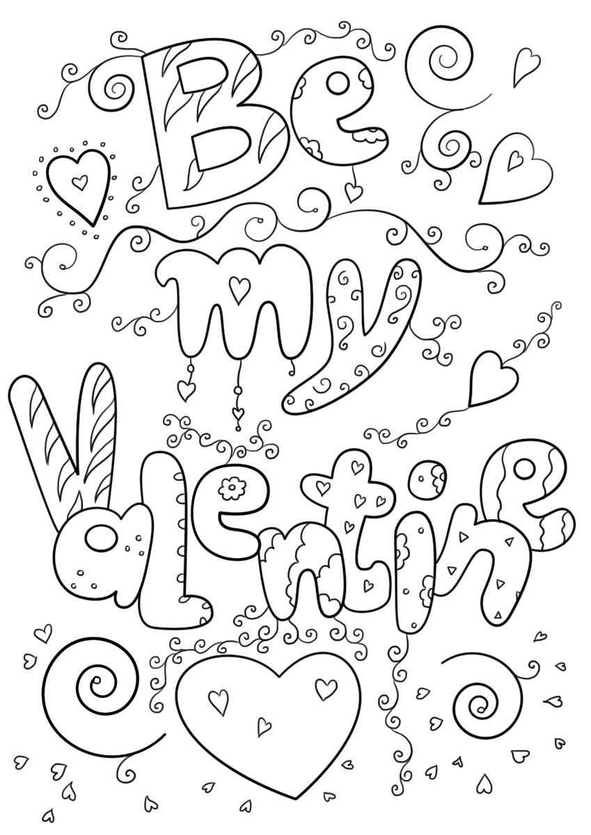 It is a picture of Terrible Valentine Printable Coloring Sheets