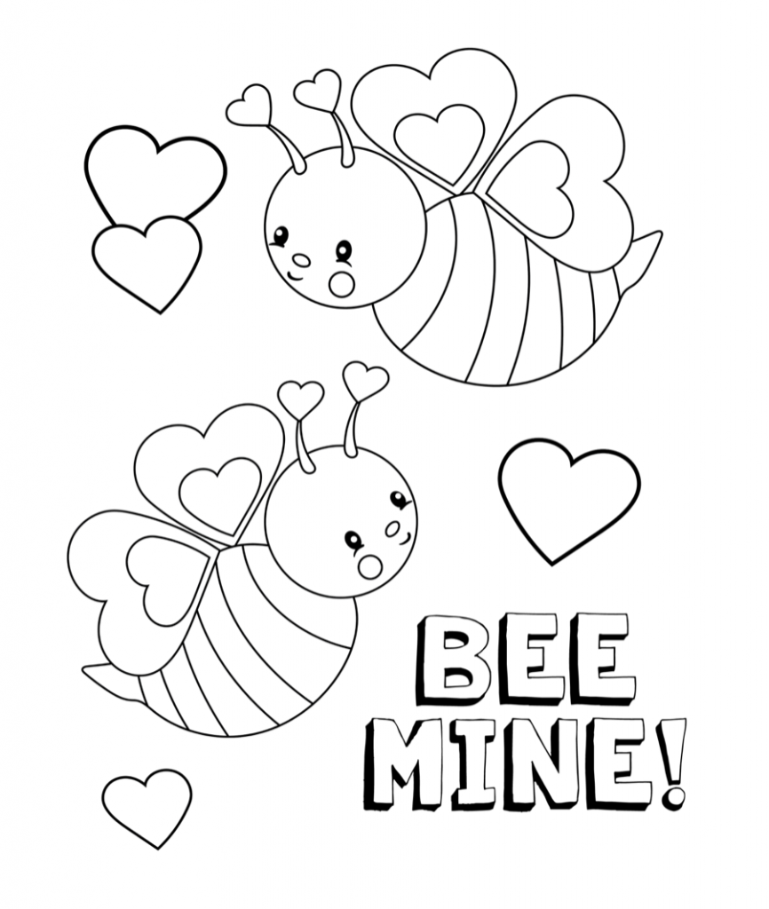 valentines day animals coloring pages - photo#30