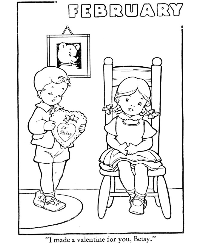 Valentines - February Coloring Pages