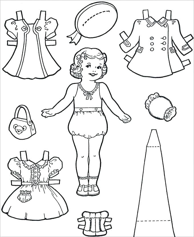 Paper Doll Template - Best Coloring Pages For Kids