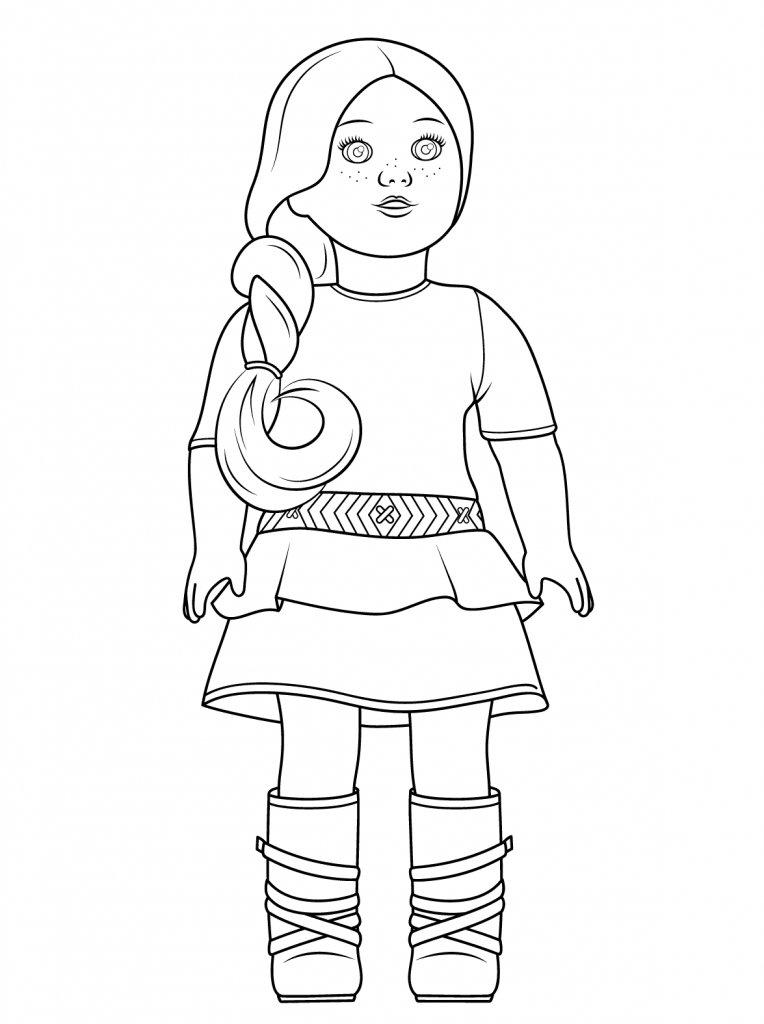 coloring pages dolls - photo#43