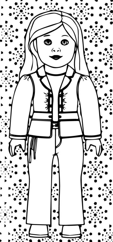 American Girl Doll Coloring Pages Truly Me