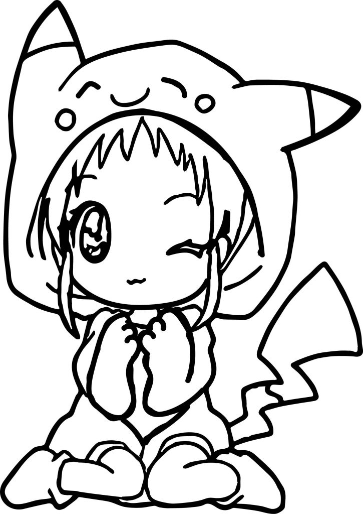 Anime Cute Coloring Page