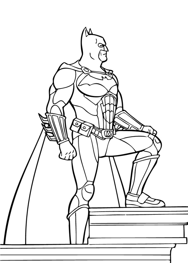 Batman Superhero Coloring Pages