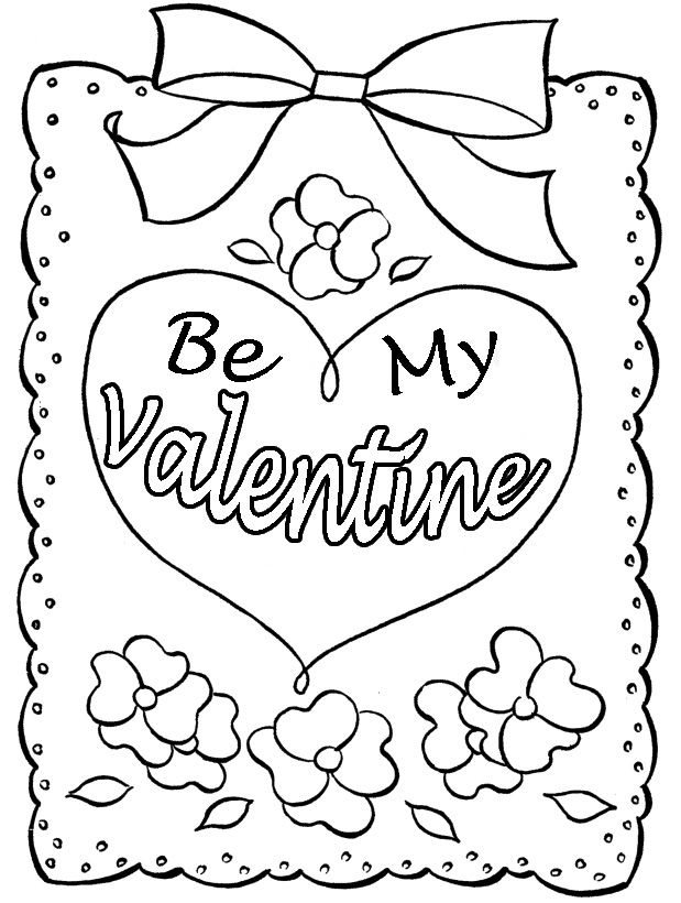 Printable Valentines Day Cards Best Coloring Pages For Kids